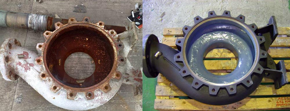 Rezitech Pulp and Paper Belzona before & after 2
