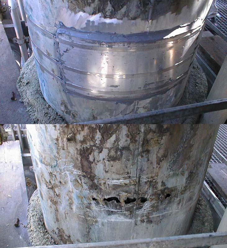 Rezitech Steel repair before & after